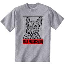 French Bulldog Got Frenchie - Cotton Grey Cotton Tshirt - $23.59