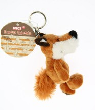NICI Fox Brown Stuffed Animal Plush Beanbag Key Chain 4 inches - $11.99