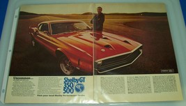 1969 Ford Shelby GT 350/500 ~ Original Print Ad ~ Auto Muscle Car - $6.65