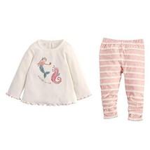 Mud Pie Kids Baby Girl Winter Mermaid and Seahorse 2 Pc Top and Legging ... - $29.00