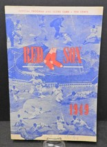 1949 Red Sox Program - Red Sox vs Cleveland - $14.24