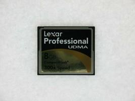 Lexar Professional Udma 8GB 300X Vitesse Pn : 2726 Rev A Compact Flash Carte