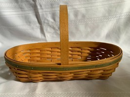 Longaberger May Series Peony Basket with Stationary Handle & Green Accent 2001 - $26.17