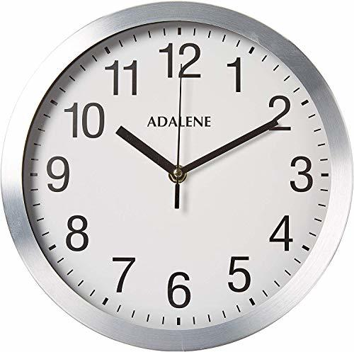 Primary image for Adalene Modern Metal Wall Clock Silent - 10 Inch Analog Wall Clocks Battery