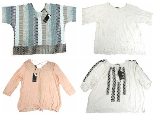 1X Plus Women's Point Zero Curvy Pullover Blouse in Trendy Styles NEW