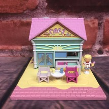 Vintage 1993 Polly Pocket Bluebird Toys Polly's Beach Cafe Pollyville Pink Road - $34.99