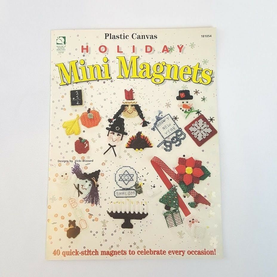 Primary image for Holiday Mini Magnets 40 Fridge Motifs Plastic Canvas Patterns