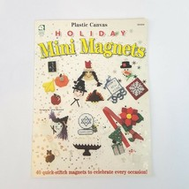 Holiday Mini Magnets 40 Fridge Motifs Plastic Canvas Patterns - $4.95