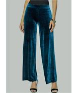 N Natori Solid Velvet Pant,Dark Teal,Size 3XL , NEW - $24.74