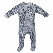 ZippyJamz Organic Baby Footed PJs w/Inseam Zipper ~Drip Drop Dream 0-3 M - $29.99