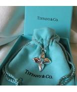 Tiffany & Co. Sterling Silver Plumeria Poinsettia Flower Pendant Necklac... - $185.00