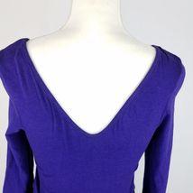 Express Dress Womens Sz 8 Black Purple Elastic Waist Stretch 3/4 Sleeve Pockets image 6