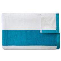 Tropical Cabana Stripe Beach Pool Cotton Velour Towel 34 x 68 Aqua 2 Pack - $956,82 MXN