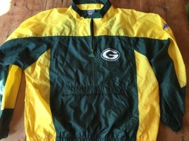 Green Bay Packers Jacket Apex One NFL  Men Large Football  Nylon VTG 90's Zip - $25.64
