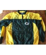 Green Bay Packers Jacket Apex One NFL Men L Nylon VTG 90's Zip - $18.99