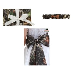 MOSSY OAK Giant Bow Bridal Sash Plus Size Bridesmaid Clutch Purse Garter... - $4.17+