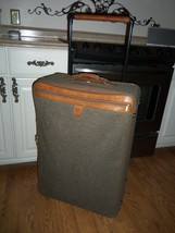 Hartmann Tweed & Leather Luggage Suitcase Large Pullman Rolling Wheeled ... - $148.49