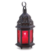 Red Glass Moroccan Lantern 10013245 - $16.93