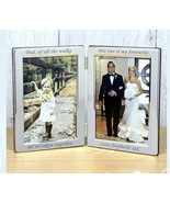Father of the Bride engraved personalised wedding keepsake double frame #1 - $38.48