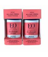 EO Deodorant Cream Geranium 1.8 oz x 2 Per Lot Essential Oils All Day Fresh - $45.00