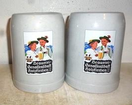 2 Brauerei Genossenschaft +1995 Holzkirchen German Beer Steins - $19.95
