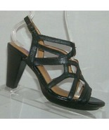 Indigo by Clarks Calabria black leather buckle slingback sandal heels 6.5M - $23.02