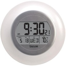 Atomic Wall Clock with Thermometer  - $26.99