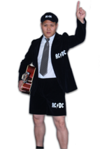 Süßes oder Saures Angus Young Erwachsene AC/Dc Rock Star Halloween Mode ... - £58.10 GBP