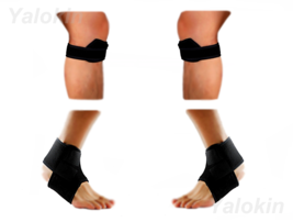 2 Runner Knee Str, 2 Ankle Straps for Recovery, Injury Protection Support (ST10) - $17.24