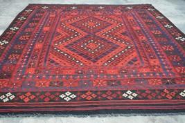 Tribal Handmade Afghan Vintage Square area kilim rug >>> DISCOUNTED PRI - $585.00