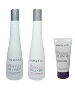 Pravana the Perfect Blonde Purple Toning Shampoo, Conditioner and Masque... - $44.99