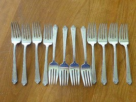 12 PAGENT 1927 SALAD / Cake FORK Holmes Edward International Silverplate... - $64.35