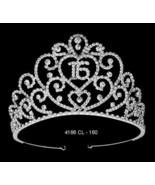 "Silver Clear or Pink Princess Rhinestone Sweet 16 3"" Royal Tiara Headpiece - €62,09 EUR"