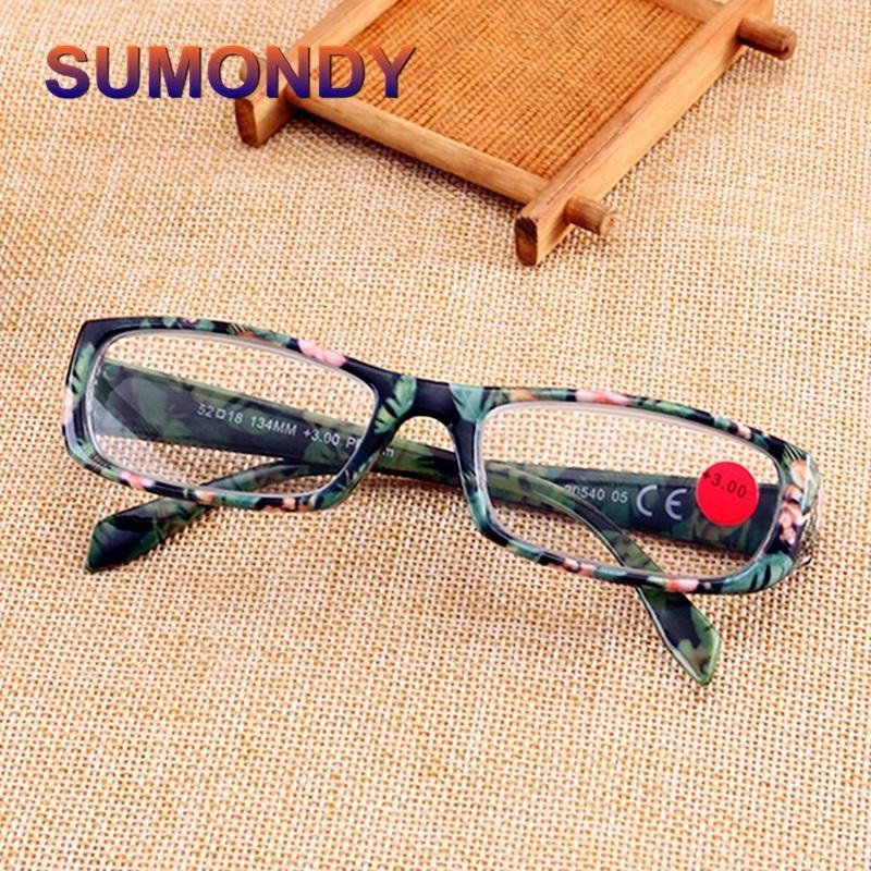 SUMONDY Fashion Reading Glasses Women Men Name Brand ...