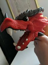 Fisher Price Imaginext Red Winged Eagle Talon Castle Dragon W Sounds! Works!! image 5