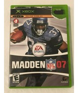 Xbox Madden NFL 07 Video Game Case Disk and Instructions Tested - $4.99
