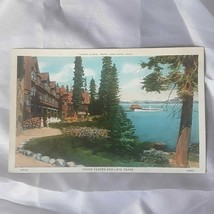 Lake Tahoe Tavern Nevada Postcard Photochrome Curt Teich 1930s 1940s - $19.77