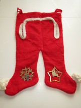 Funny Vintage 1960s Red Union Suit Trap Door Long Underwear Christmas St... - $14.55