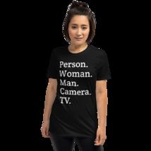 person woman man camera tv / person woman man camera tv T-Shirt image 7