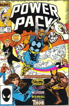Power Pack Comic Book #19 Wolverine and Beta Ray Bill, Marvel 1986 VERY ... - $3.50