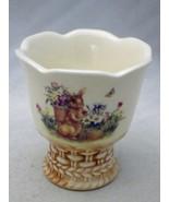 Cracker Barrel - Easter Treasures pattern - Single Egg Cup - NEW & Disco... - $11.88