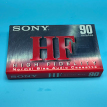 Sony HF Audio Cassette Tapes 90 Minutes High Fidelity blank media sealed - $8.75