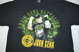 John Cena Chain Gang Battalion Black Graphic T-Shirt Mens XL 2007 WWE Wrestling - $24.63