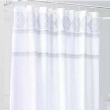 Medallion Sheer Embroidery Shower Curtain White - Threshold 72x72 - $13.20