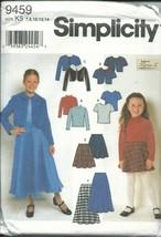 Simplicity 9459K Sewing Pattern Girls Jacket Top Skirt Size 7-14 - $11.87