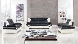 American Eagle AE209-BK.W Black/Ivory Sofa Loveseat Chair Set F/Leather ... - $37.468,38 MXN