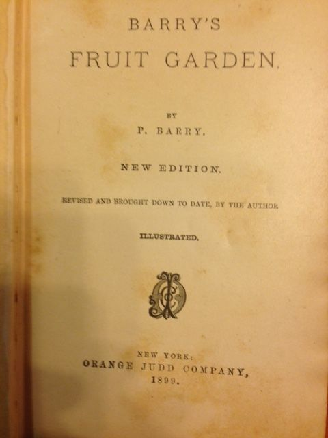 1899 BARRY'S FRUIT GARDEN Orchard Gardening Book APPLE PEAR STRAWBERRY GRAPE N/R