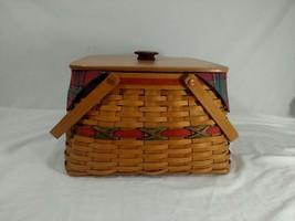Longaberger 2000 12 Days of Christmas Holiday Hostess Basket w/2 Protect... - $44.54