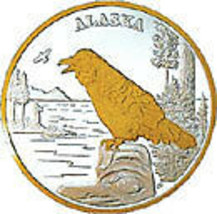 Alaska Mint Raven Gold & Silver Medallion Proof - $118.79
