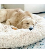 Dog Cat Calming Bed Warm Soft Plush Round Cozy Nest Comfortable Sleeping... - $39.00